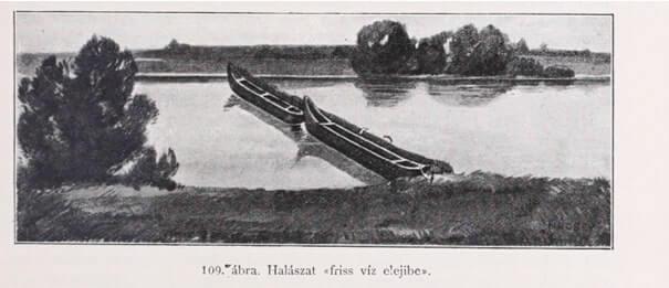 Rekesztő halászat a Zala-folyón